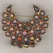 D&E aka Juliana Fabulous Crescent Dangle Brooch