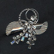 Carl-Art Sterling Retro Brooch