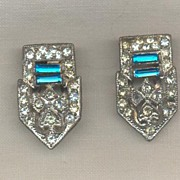 Art Deco Pot Metal Dress Clips