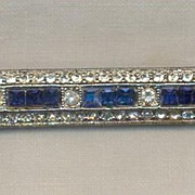 Kenneth Lane Art Deco Style Bar Brooch
