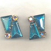 D&E aka Juliana Aqua and Aurora Earrings