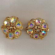 Goldtone Earrings with an Etruscan Flair