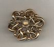 Victorian Moonstone Love Knot Brass Brooch