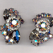 D&E aka Juliana Black Diamond Aurora Earrings