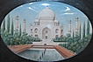 Large Anglo Indian Miniature Mughal Islamic Ivory Painting Taj Mahal c 1900