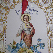 Antique..1915..Christmas Card / Letter Written in German From NJ..Printed In Germany..Excellen