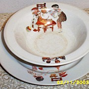 SALE Child's Cereal  And Dish  Set  Syracuse China  O.P. Co.