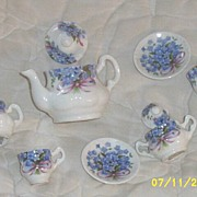 SALE PENDING Vintage...Forget-Me-Not...Child's Tea Set...Doll House..ENGLAND...Bone China By C