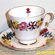 Flowers Of The Year Signature Collection Cup And Saucer (August) By Royal Doulton 1983