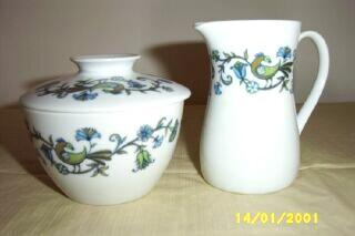 Noritake China Pastoral Pattern Sugar And Creamer