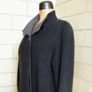 SALE MAXI Donnybrook Coat In Dark Gray Wool With Medium Gray Accents..Size 12..Excellent ...