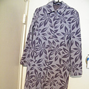 SALE MAXI..  Printed Wool Coat Mauve With Stenciled Flowers..by Boden..Size 10
