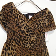 Vintage..Formal Dance Dress..Leopard Chiffon..Designer WHY Collection..Original Tags..New Cond