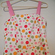 WONDER DOTS Sundress..Pink..Orange..Mint Dots..Size 4..Excellent Condition!