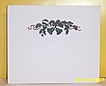 1950's..Ephemera..Embossed String Of Bells..Christmas Card.. Blank Heavyweight Stock..Embossed Border...Sold in 6 Card Bundles