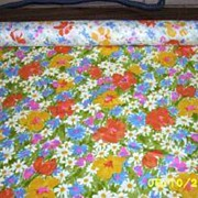 Bates V.I.P. Decorator Fabrics Cotton Sateen Avocado Ground Floral Print