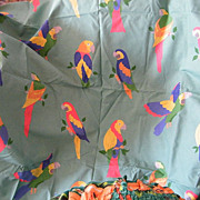 PARROT Design Printed Drapery Fabric By Laura Ashley..2 Yds 20&quot;..Cotton..Never Used