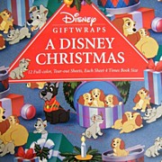 Disney Giftwrap Book...A Disney Christmas..6 Designs..12 Sheets..Never Used