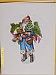 Artisan..Vintage Paper Collage Christmas Greeting Card..Ephemera..Scraps