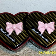 Twin Heart Shaped Plastic Box...Sweet Memories...Multi-Layred Hong Kong