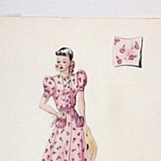 Original...Color...Fashion Illustration...1930's - 40's