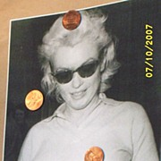 Vintage...5 Marilyn Monroe Glossy Candid Photos From CBS 60 Minutes File..Must See!