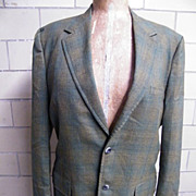 1960's..Men's Iridescent Wool Shadow Plaid Sports Jacket..Coat..Rockingham For Belk Tyler ...