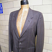 Vintage G GUCCI 2 Piece Suit..Brown / White Twill..Made In Italy..Size 42..Excellent ...
