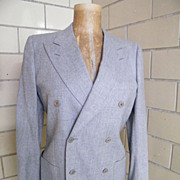 LeMans By Carl Davis..Light Gray Suit / Sports Jacket Of Light Gray Wool..Italy..Excellent ...