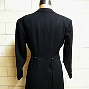 Tuxedo / Tails & Slacks..Custom Made..Bespoken.. BZ..Black Wool..Excellent Vintage Condition