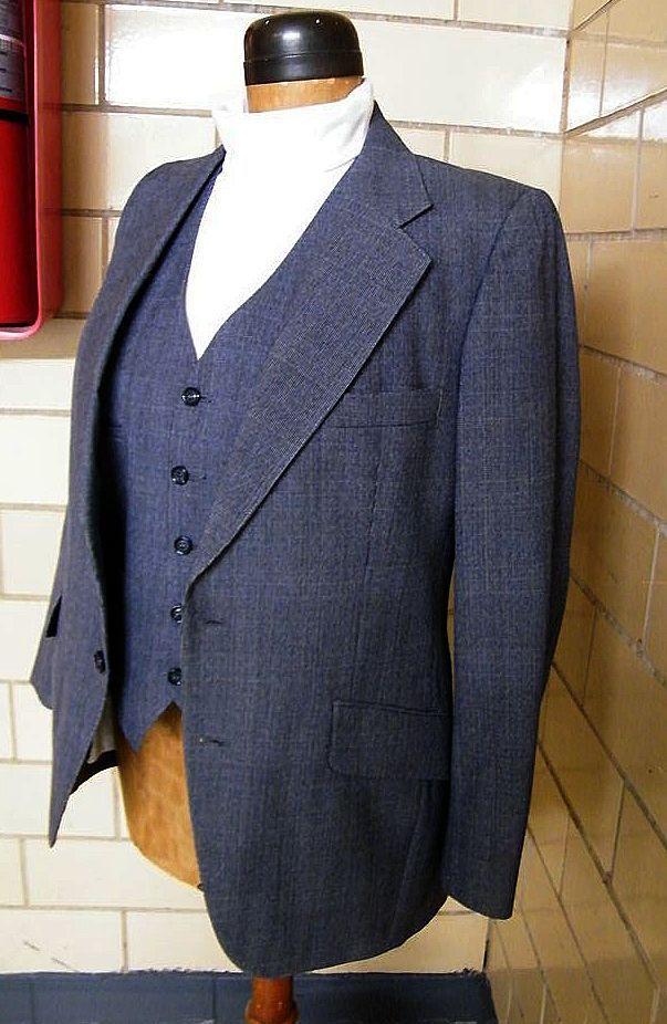 1960s Mens Colorful Suits 1960's men's 3 piece wool