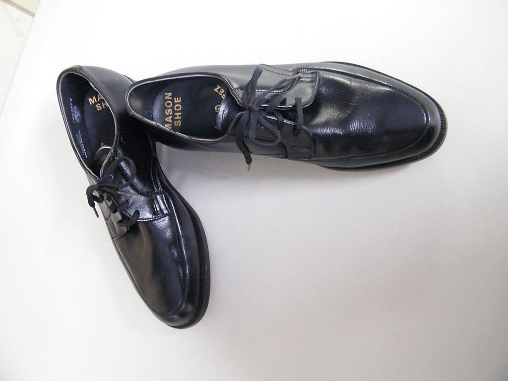 1960's Men's MASON Black Leather Dress Shoe..New Condition..Size 6.5-E