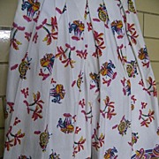 Vintage MEXICAN Cotton Tablecloth Print PALAZZO Pants..Spitalnick & Co.
