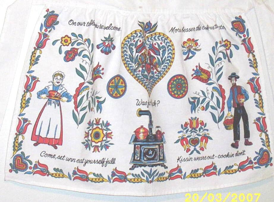 Item ID: PENNA DUTCH APRON -2130 In Shop's Backroom