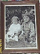 Framed Photo..Brother & Sister...Early 20th Century