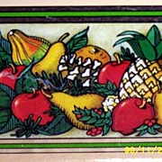 Pyrex Rectangular Loaf Pan Inserted In An Assorted Fruit Patterned Tin  Teleflora Holder