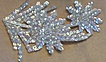 Vintage Sequin Applique Trim..Iridescent Floral..4 Pieces Available