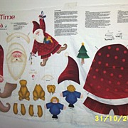SALE PENDING Santa Cut, Stuff And Sew Kit By Susan Jill Hall For Springs Industries