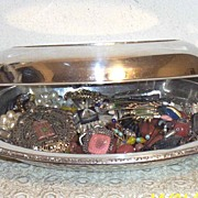 Vintage Oval Silver Covered Serving Dish...Or...Jewelry Casket...As Pictured