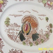 Vintage...Turkey Platter..Japan..Transferware..Great Condition!