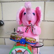 Vintage MAMBO ELEPHANT..Beating Drum Elephant.. NIB Battery.. Operated