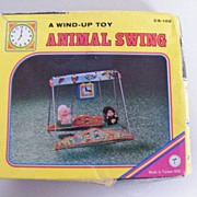 Vintage Wind-Up Animal Swing..NIB..Taiwan..
