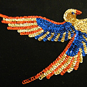 Vintage..AMERICAN EAGLE Trim / Applique..Sequins..NOS