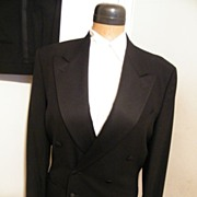 Vintage CALVIN KLEIN Black Tuxedo Suit--100% Wool--Excellent Condition