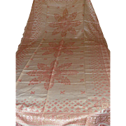 Turkey Red Damask Banquet Cloth....