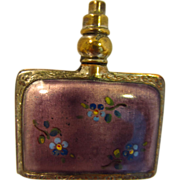 Guilloche Enamel Perfume Bottle....