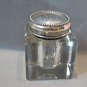 SOLD Vintage Sterling Top Jar......