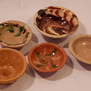 Child's Miniature Pottery Bowls...