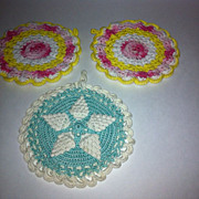 Vintage Pot Holders or Hot Pads.