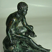 Bronze of a Young Mercury Seated  Circa: Early 1900s